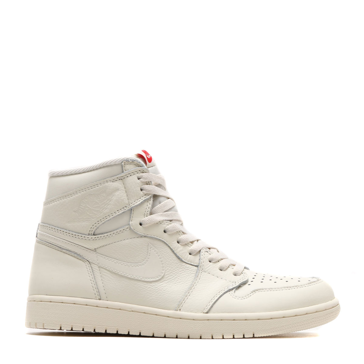 NIKE AIR JORDAN 1 RETRO HIGH OG (Nike Air Jordan 1 nostalgic high OG) (SAIL/UNIVERSITY RED) 17FA-I