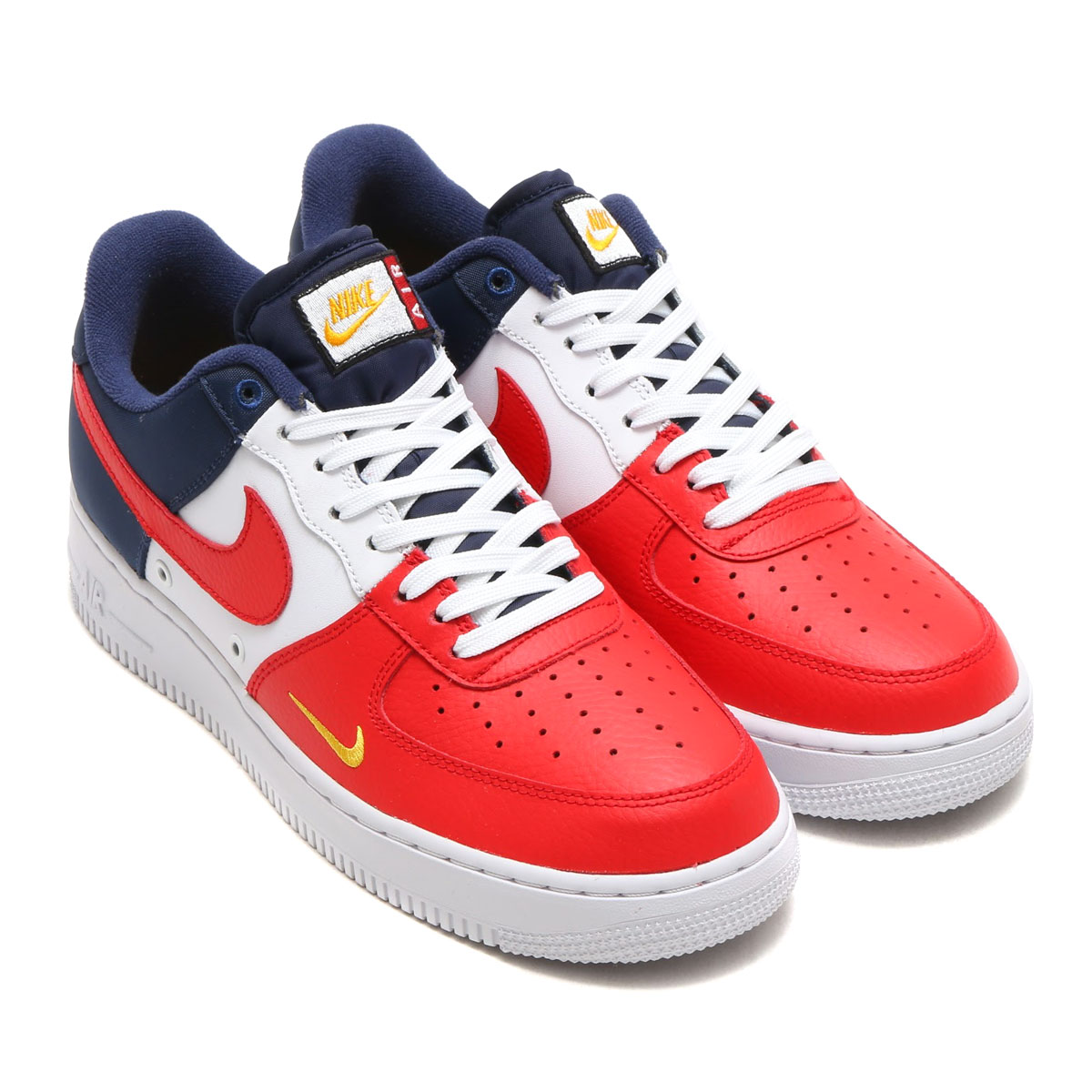 nike men's air force 1 '07 lv8 red navy gold nz