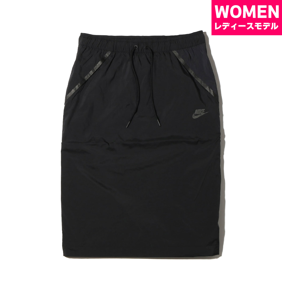 NIKE AS W NSW TCH HPRMSH SKIRT (나이키 womens 텍 하이퍼 메쉬 스커트) (BLACK/BLACK) 17 SU-S