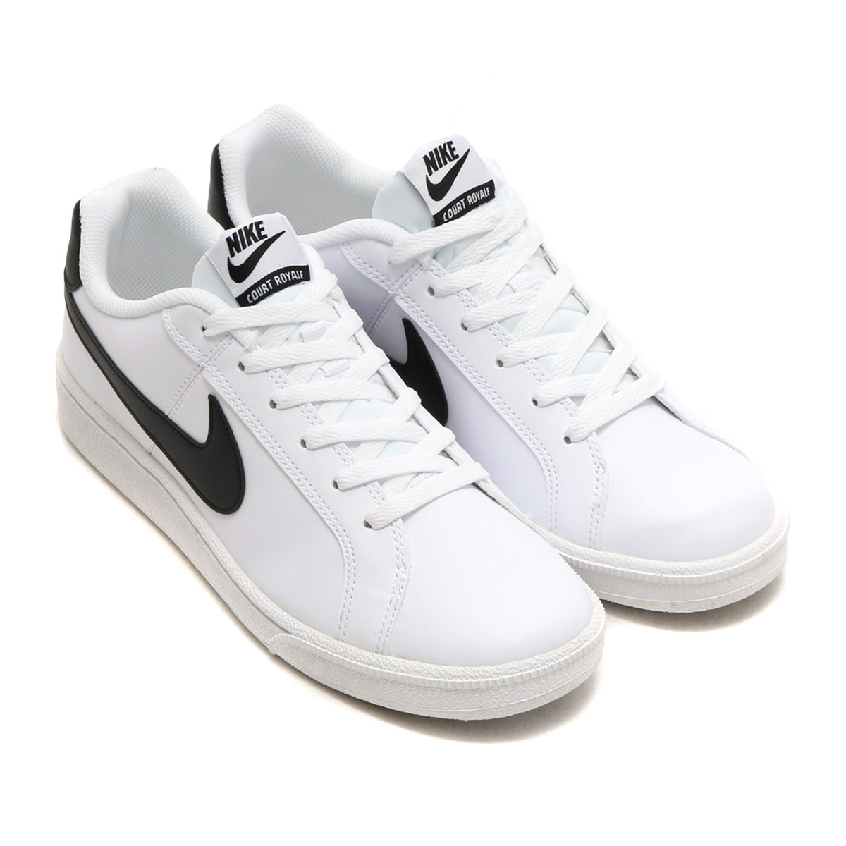 ★SALE ★ NIKE COURT ROYALE SL (Nike coat royal SL) WHITE/BLACK 17HO-I