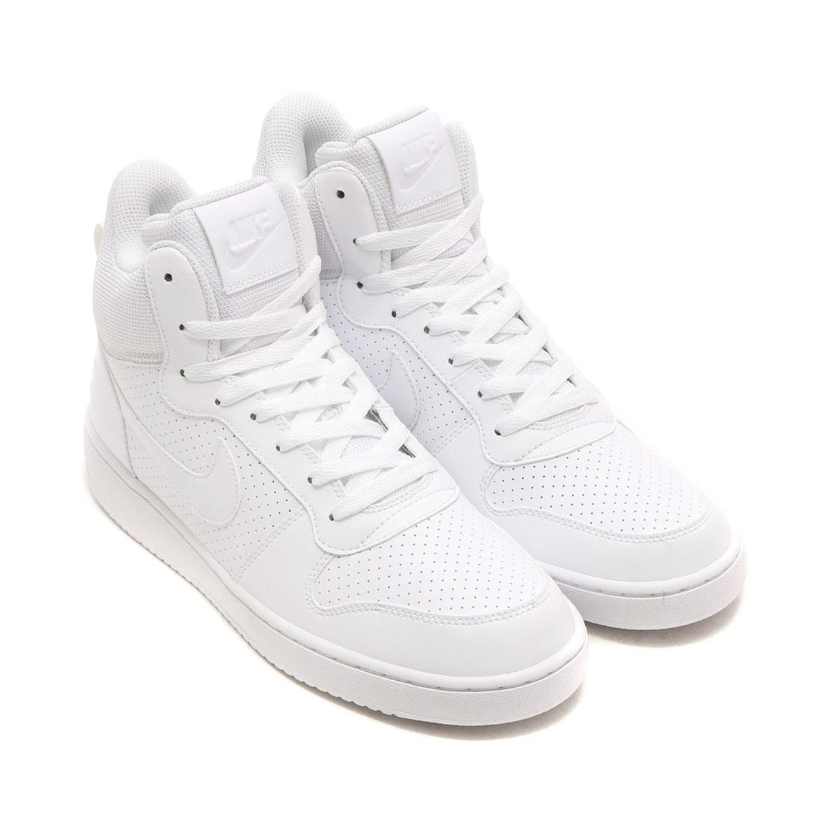 NIKE COURT BOROUGH MID SL (나이키 코트 로우 미드 SL) WHITE/WHITE-WHITE 16HO-I
