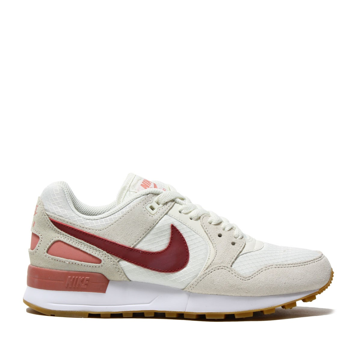 NIKE W AIR PEGASUS '89 (Nike women air Pegasus 89) SAIL/PORT-RED STARDUST-GUM  LIGHT BROWN 17FA-I