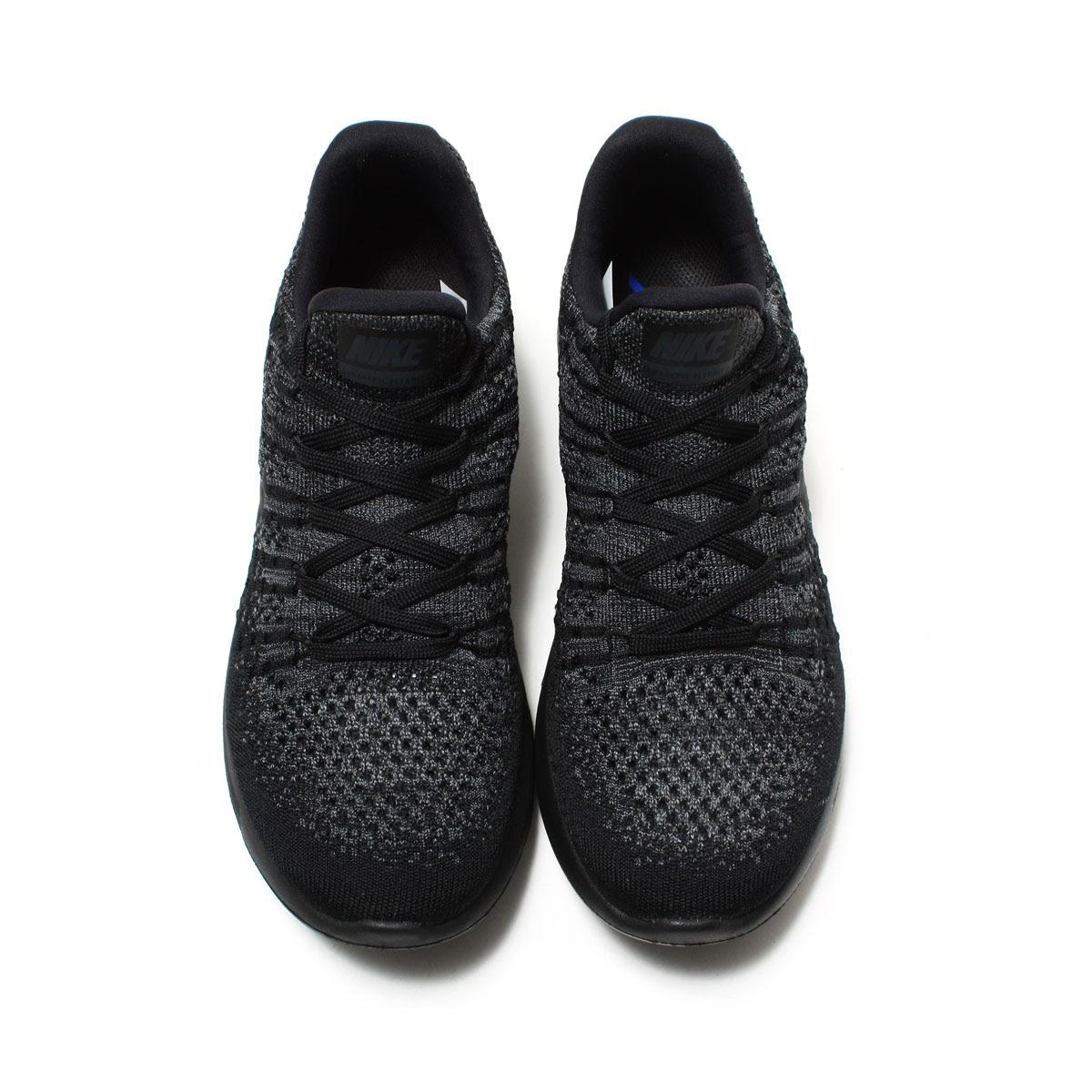0c4fd9219109 NIKE W LUNAREPIC LOW FLYKNIT 2 (Nike women luna epic loaf rye knit 2) BLACK  BLACK-DARK GREY-RACER BLUE 17FA-I