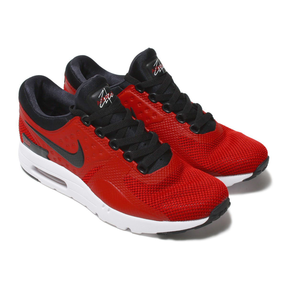 cheaper c6dd1 131a3 ... Black 100 NIKE AIR MAX ZERO ESSENTIAL (Kie Ney AMAX zero essential)  TOUGH REDBLACK-WHITE ...