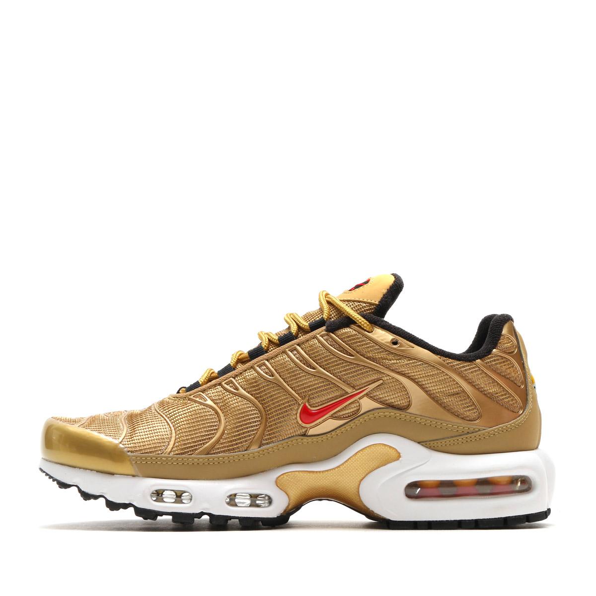 NIKE WMNS AIR MAX PLUS QS (Nike women Air Max plus QS) (METALLIC GOLD/UNIVERSITY RED) 17SU-S