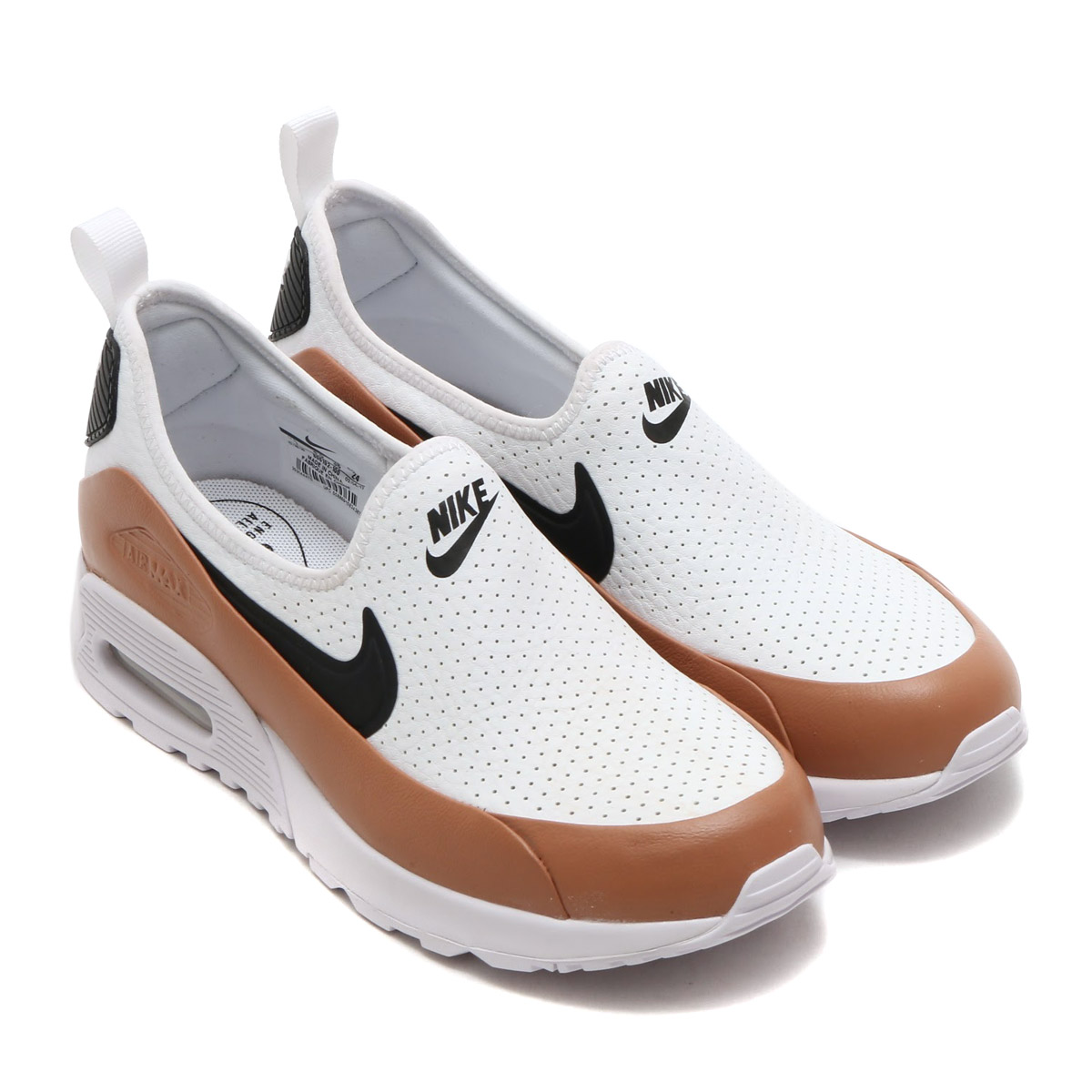 8536f552bfa6 NIKE W AIR MAX 90 ULTRA 2.0 EASE (Nike women Air Max 90 ultra 2.0 Eads)  (WHITE BLACK-DUSTED CLAY) 17SU-S