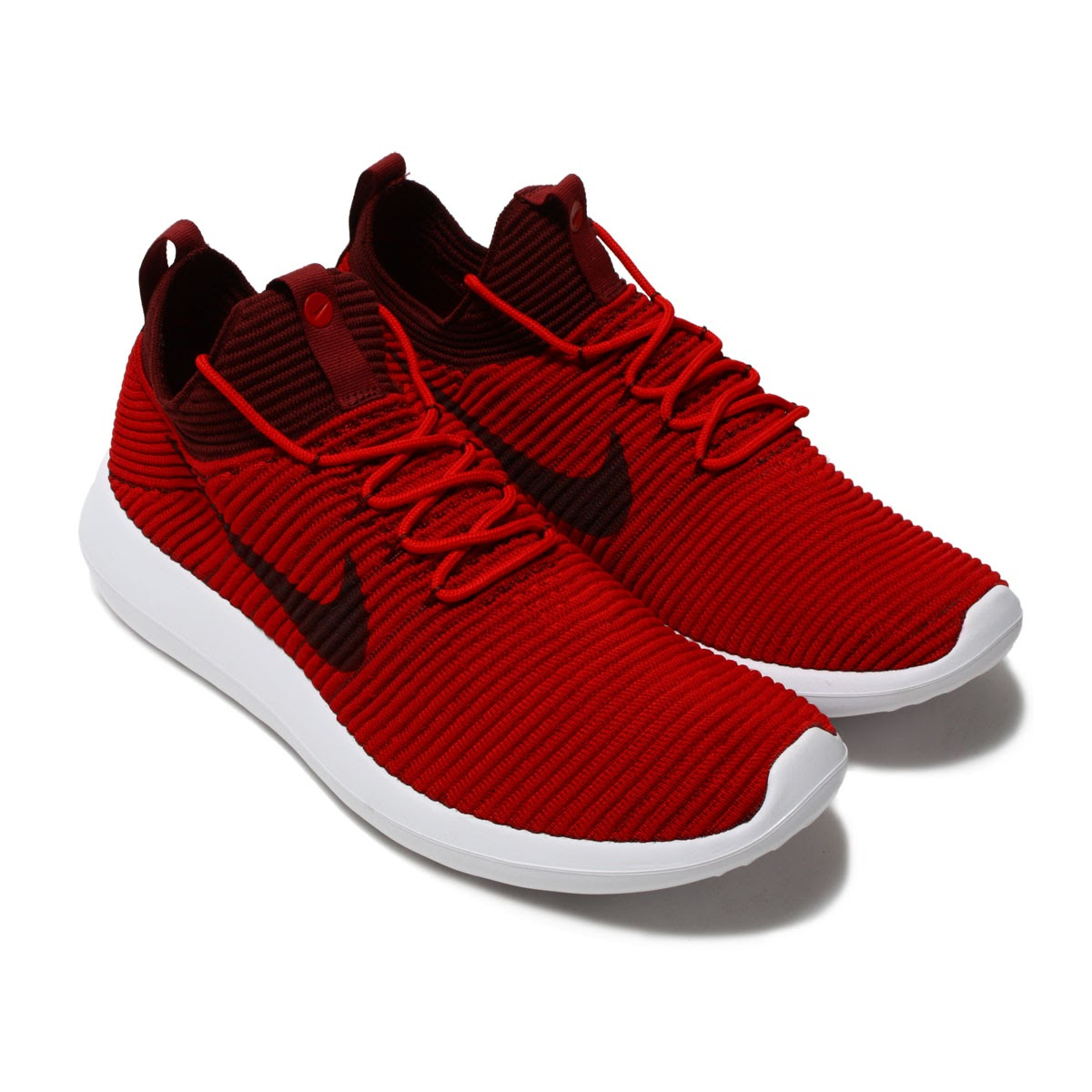 NIKE ROSHE TWO FLYKNIT V2 (ナイキローシ 2 fly knit V2) UNIVERSITY RED DARK TEAM  RED-WHITE 17FA-I 1e8157209c9a