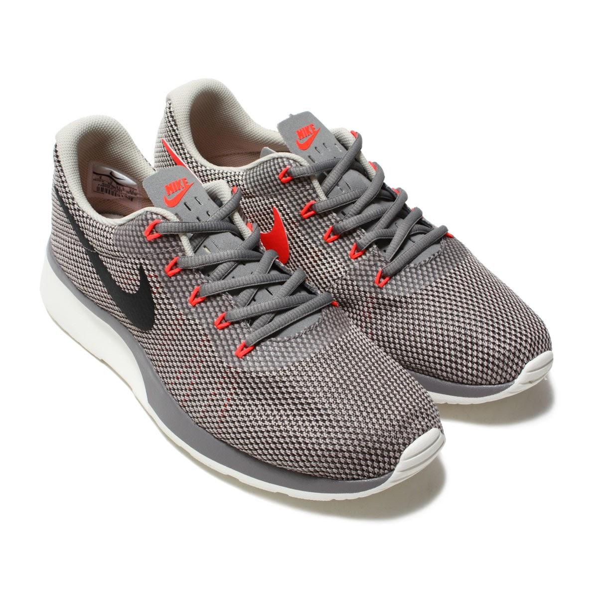 NIKE TANJUN RACER (Nike tongue Jun racer) DUST BLACK-COBBLESTONE-SOLAR RED  17FA-I 9cbcead24