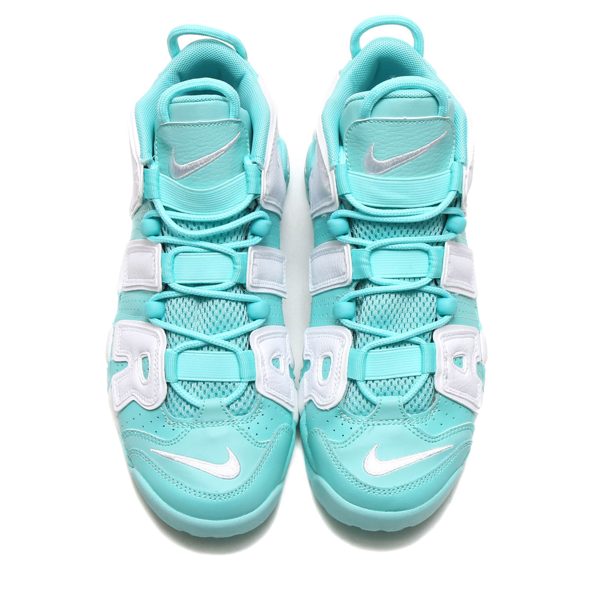 NIKE AIR MORE UPTEMPO GS (Nike air more up tempo GS) (ISLAND GREEN/WHITE)  17FA-S