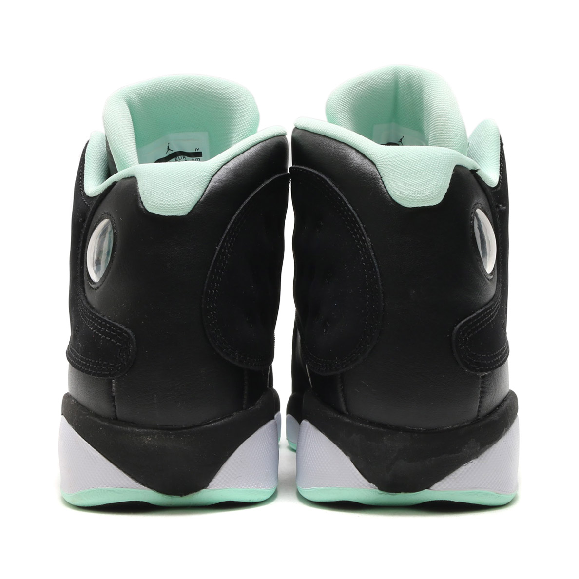 NIKE AIR JORDAN RETRO 13 GG (Nike girls Air Jordan 13 nostalgic GG)  (BLACK METALLIC GOLD-MINT FOAM-WHITE) 17FA-S 702140ee77
