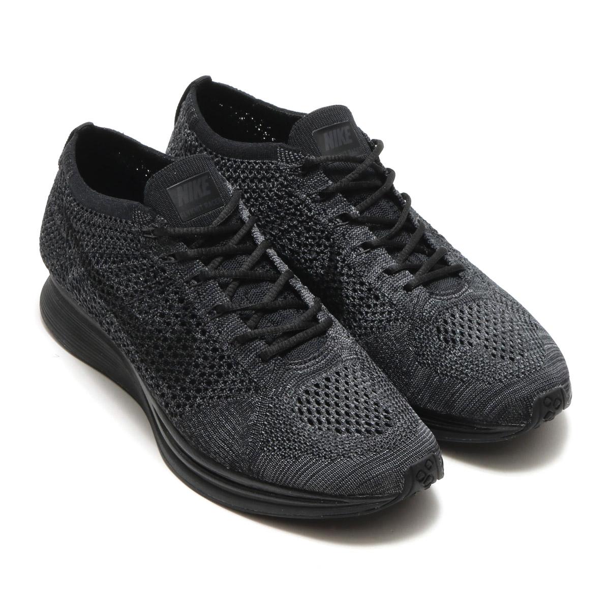 3f991629be40f2 NIKE FLYKNIT RACER (Nike fried food knit racer) (BLACK BLACK-ANTHRACITE)  17FW-I