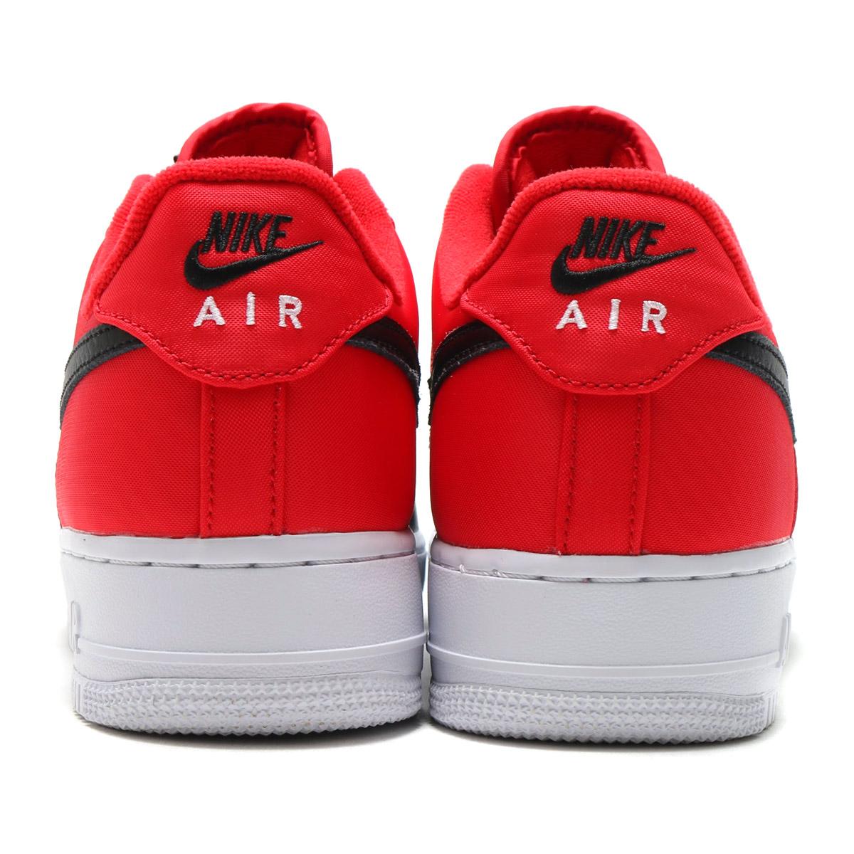 NIKE AIR FORCE 1 '07 LV8 (나이키 에어포스 1 07 LV8) (UNIVERSITY RED/BLACK-WHITE-PURE PLATINUM) 17 FA-I