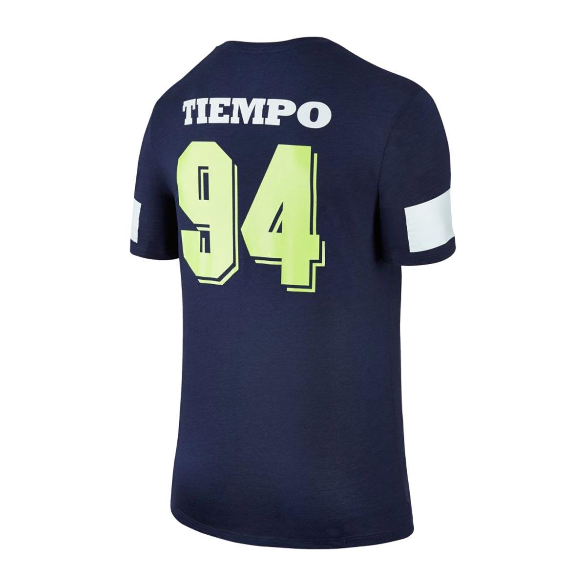 NIKE AS M NK TEE TIEMPO 94 (Nike TIEMPO 94 S/S T-shirt) MIDNIGHT NAVY 17FA-I