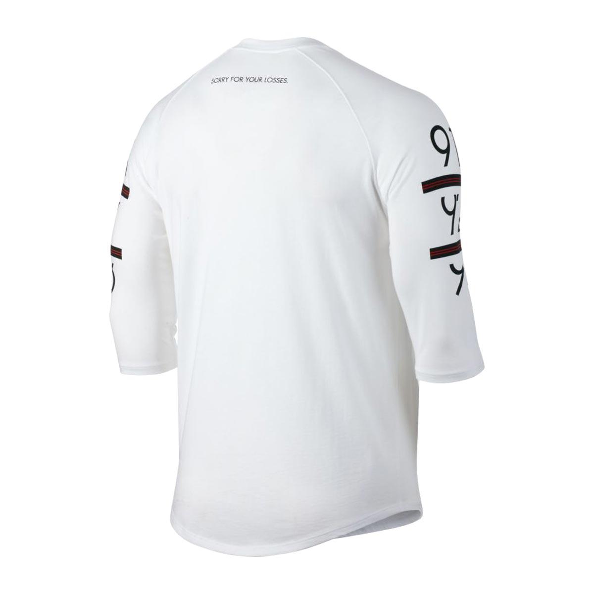NIKE 6 TIMES 3/4 RAGLAN (the Jordan 6 TIMES 3/4 raglan sleeves top) WHITE/BLACK 17FA-I
