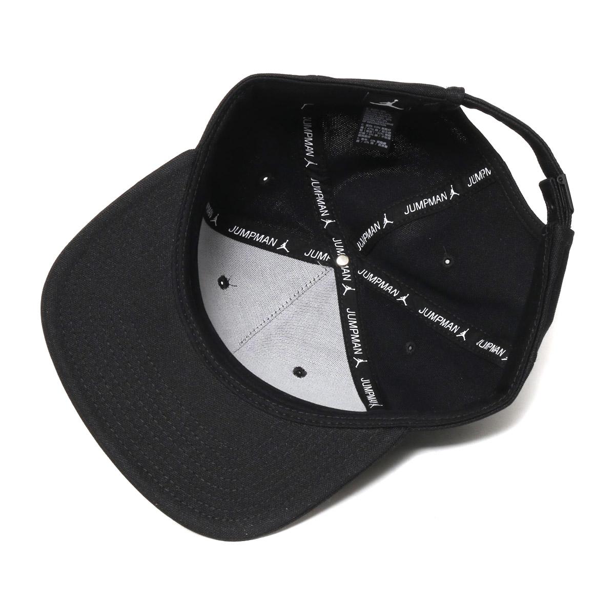 NIKE JORDAN WINGS STRAPBACK (Jordan WINGS strap back cap) BLACK WHITE 17FA-I 21ed95ba972