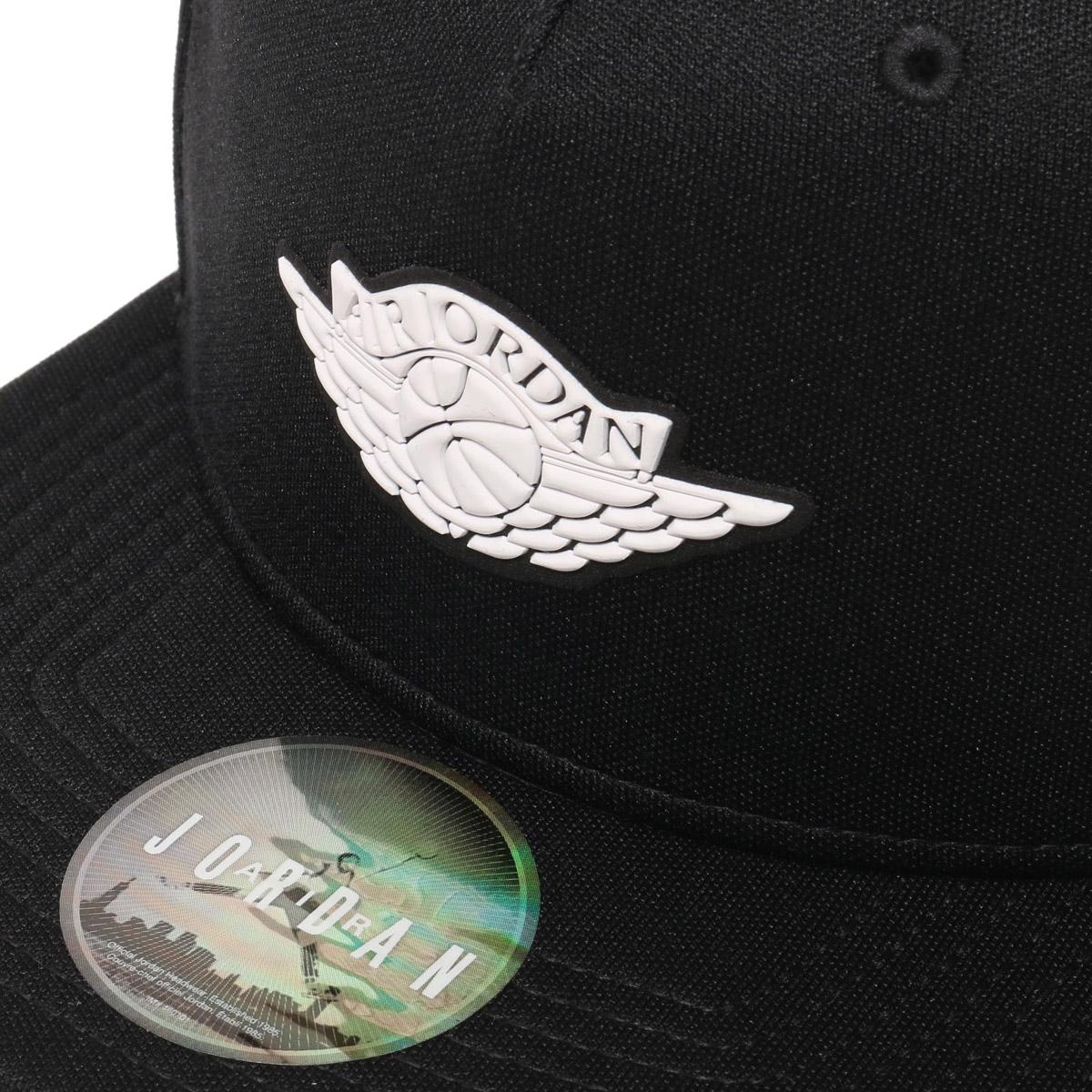 9cdb9b93e12 NIKE JORDAN WINGS STRAPBACK (Jordan WINGS strap back cap) BLACK WHITE 17FA-I