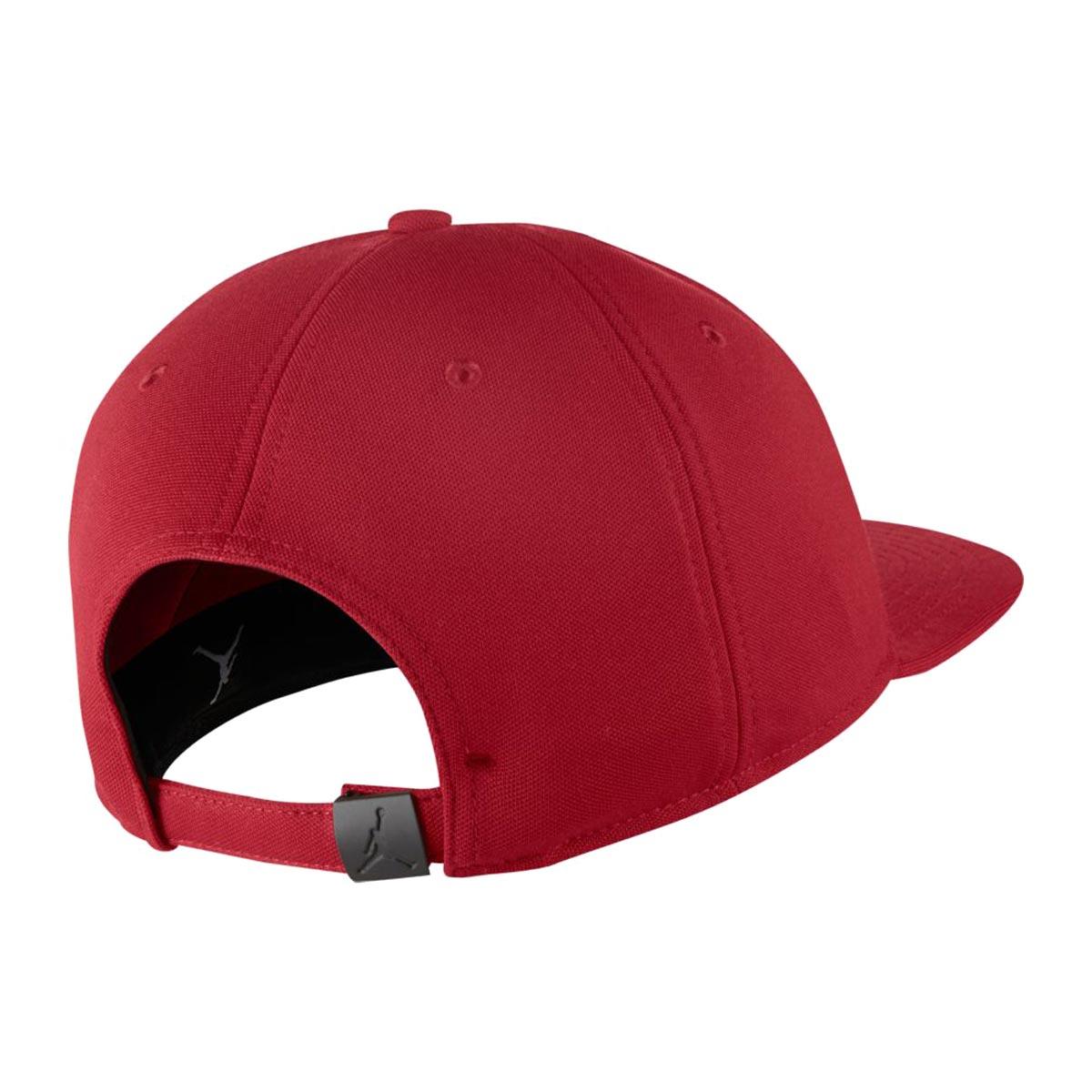 76f14d40d82 NIKE JORDAN WINGS STRAPBACK (Jordan WINGS strap back cap) GYM RED BLACK  17FA-I