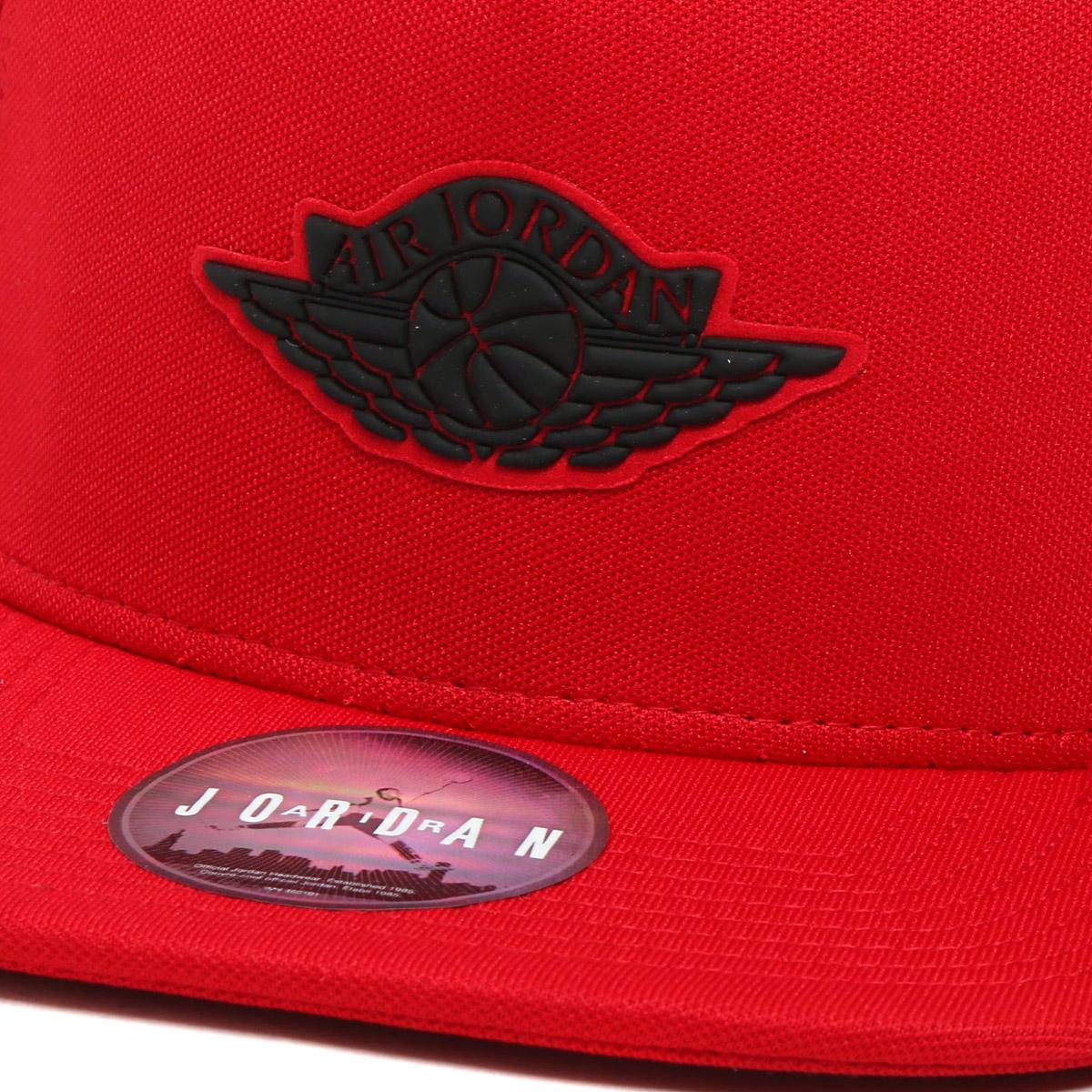 NIKE JORDAN WINGS STRAPBACK (Jordan WINGS strap back cap) GYM RED BLACK  17FA-I cdd7cae30b4