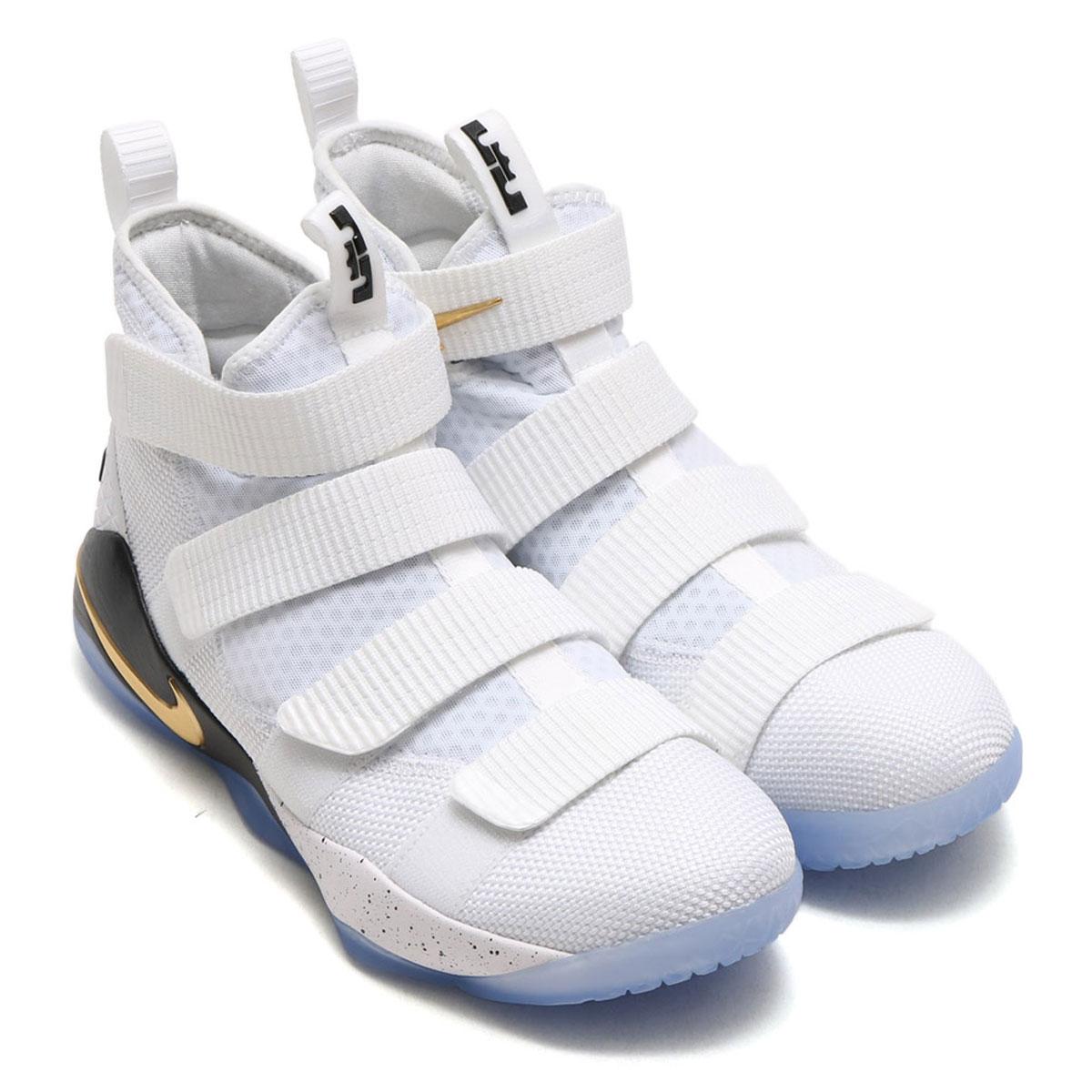 sports shoes a60a4 3fe90 NIKE LEBRON SOLDIER XI EP (Nike Revlon soldier 11 EP) WHITE METALLIC  GOLD-BLACK 17FA-S