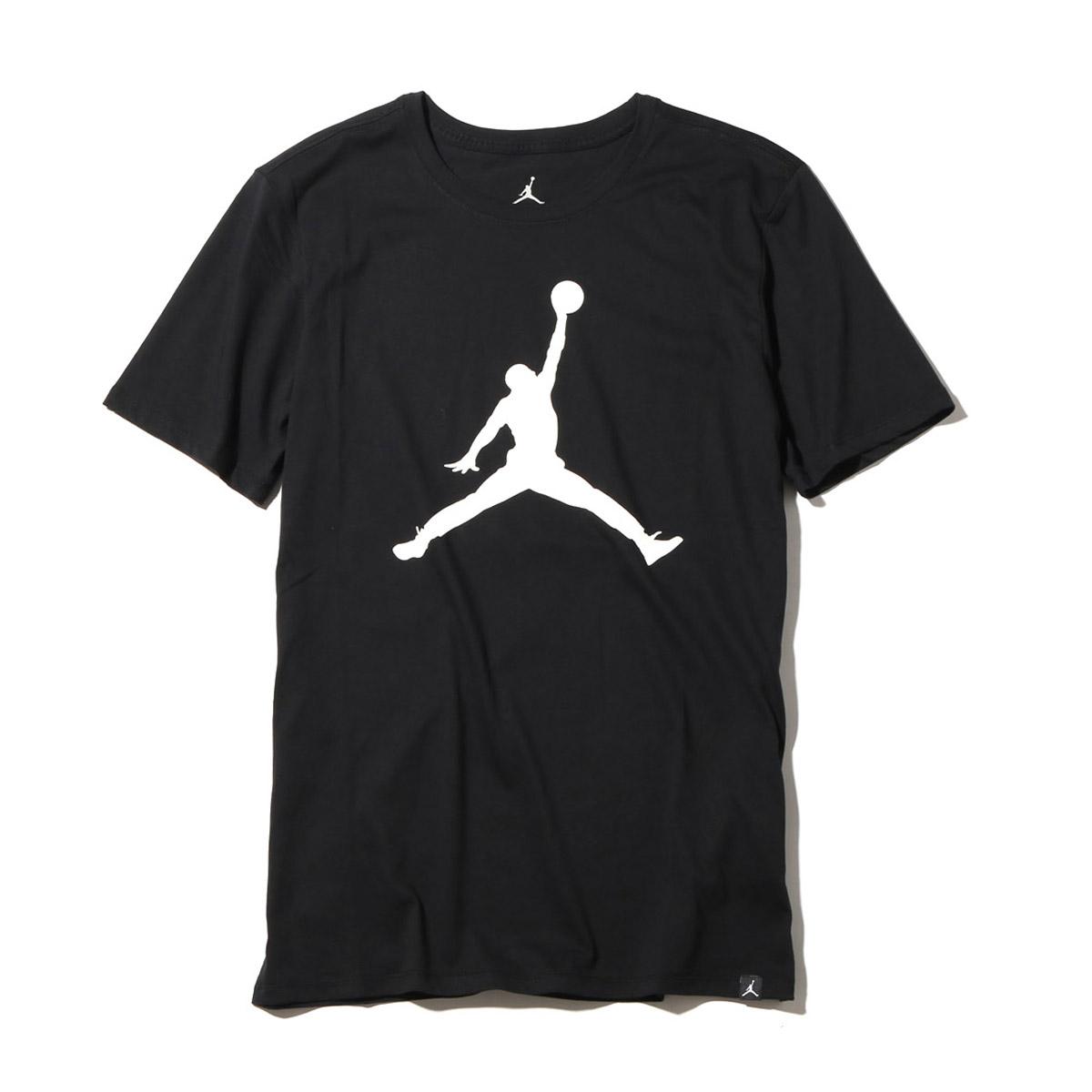 38797d3cae0e NIKE M JSW TEE BRAND 6 (Jordan icon logo S S T-shirt) BLACK (WHITE) 17FA-I
