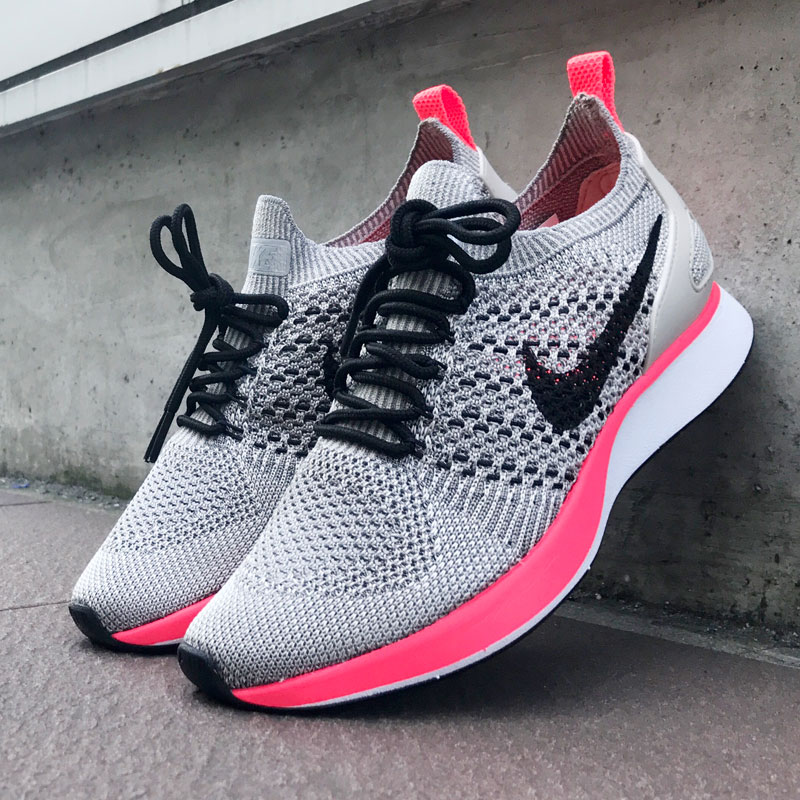 529674bd9aa6 NIKE W AIR ZOOM MARIAH FK RACER PRM (Nike women air zoom Maria fly knit  racer premium) (STRING BLACK-WHITE-SOLAR RED) 17FA-S