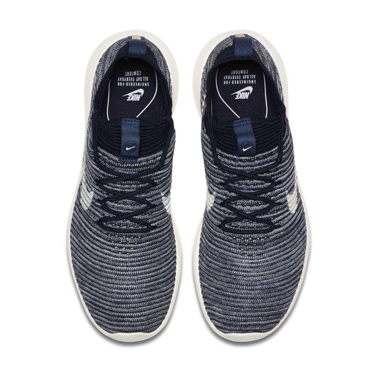 new product 5792a a62c7 NIKE W ROSHE TWO FLYKNIT V2 (ナイキウィメンズローシ 2 fly knit V2) COLLEGE  NAVY/SAIL-MTLC COPPERCOIN 17FA-I