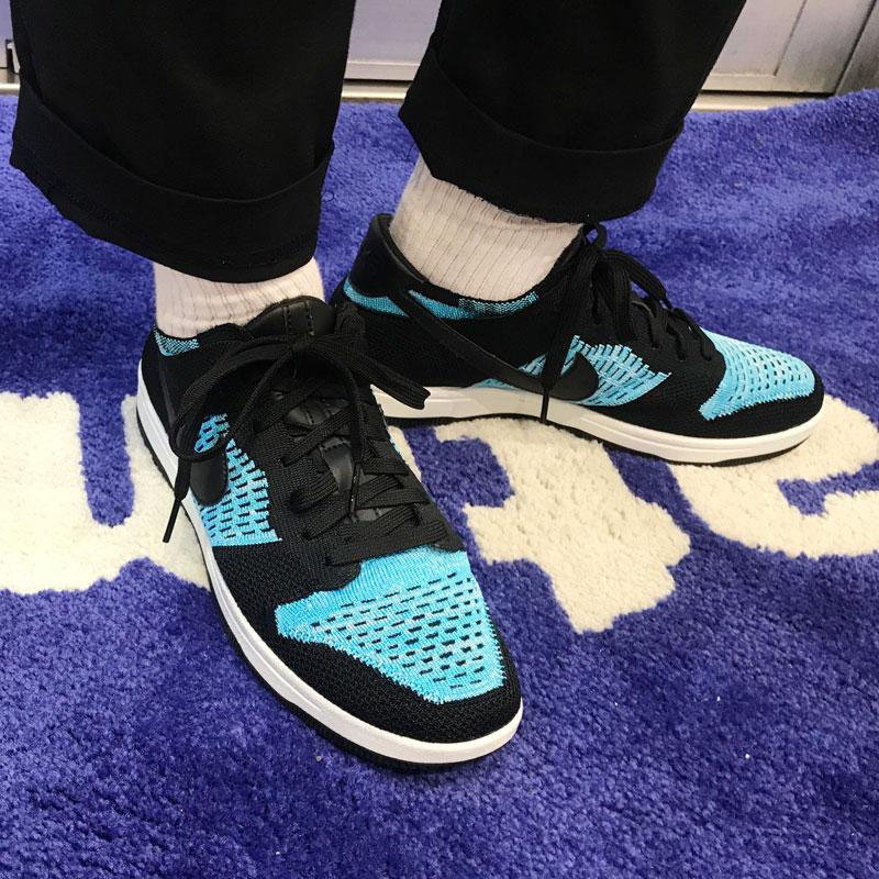 e75c35e2498a3b atmos pink  NIKE DUNK FLYKNIT (Nike dunk fly knit) (BLACK CHLORINE BLUE-SUMMIT  WHITE) 17FW-S