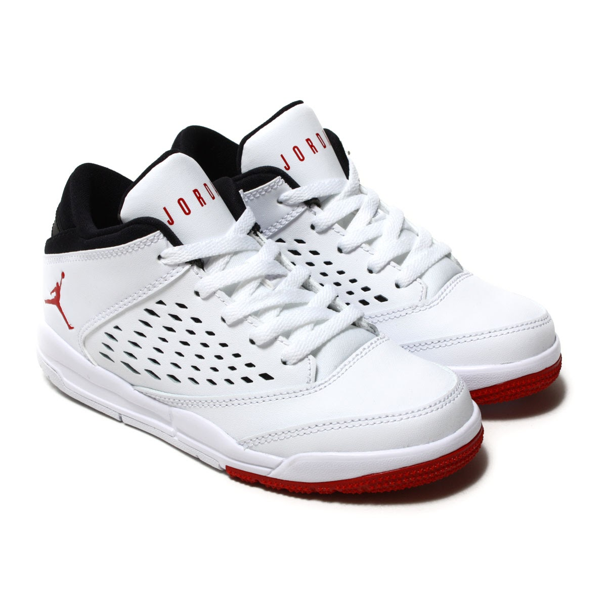 522195c1a5e1 NIKE JORDAN FLIGHT ORIGIN 4 BP (Nike Jordan flight origin 4 BP) WHITE GYM  RED-BLACK 17FA-I