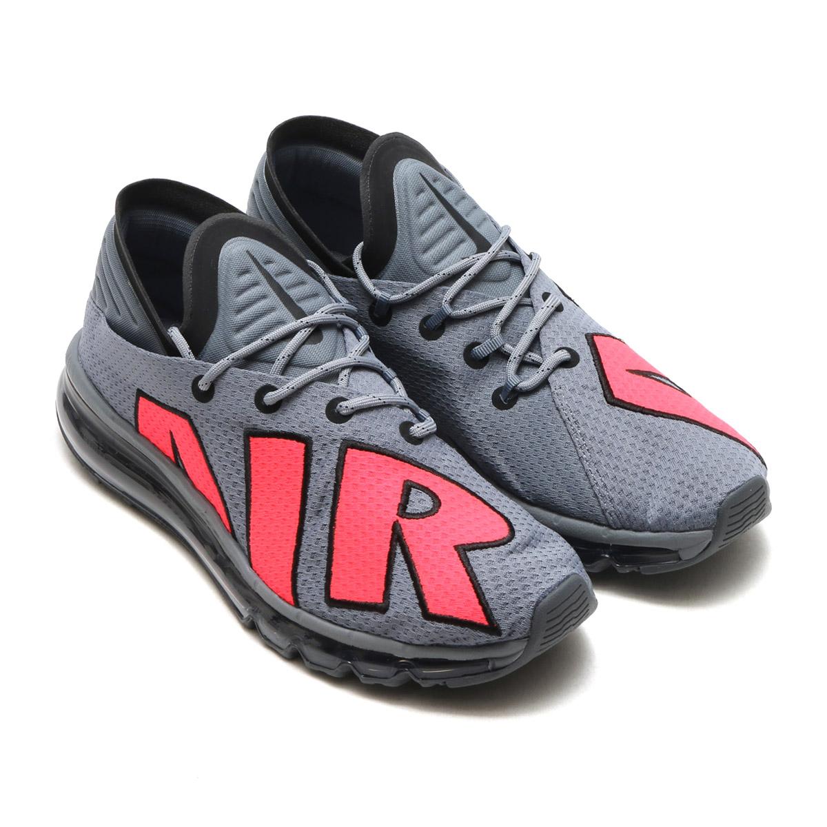 NIKE AIR MAX FLAIR(ナイキ エア マックス フレア)(COOL GREY/SOLAR RED-BLACK-PURE PLATINUM)【メンズ レディース スニーカー】17FA-S