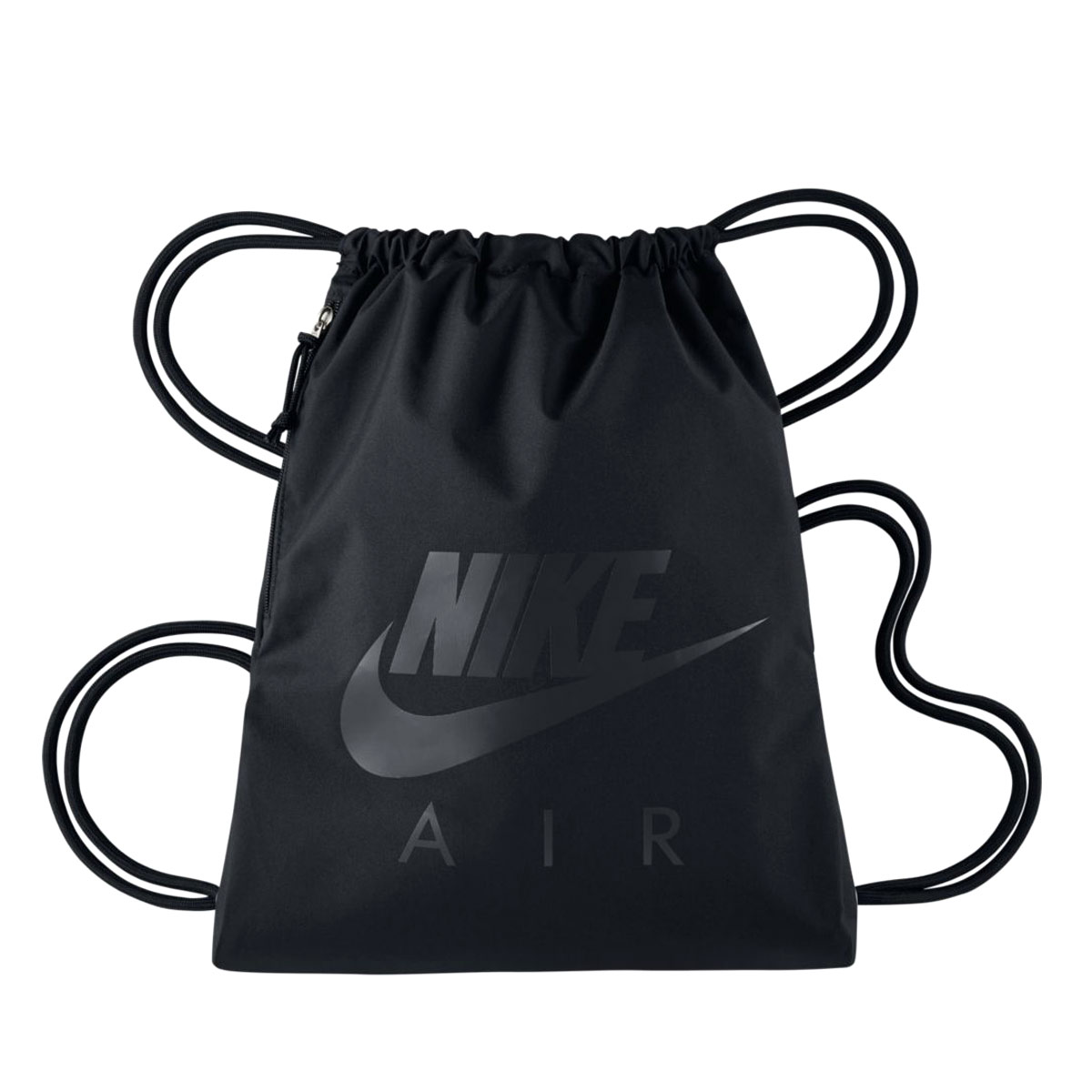 ... Nike Heritage Gym Sack BlackWhite Size One Size  cheapest 0a8a9 ba79a  There is the pocket with the zipper in a draw cord and the ... 86a283fb6a
