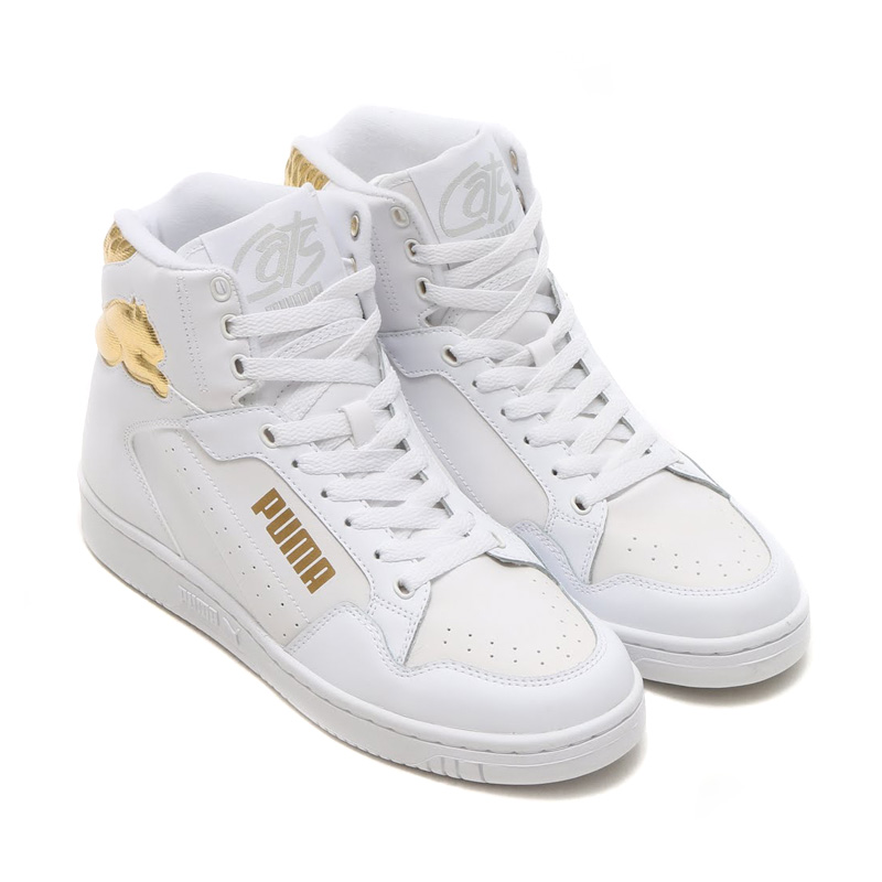 PUMA CAT GR (Puma cat GR) WHITE-TEAM GOLD 15FW-I
