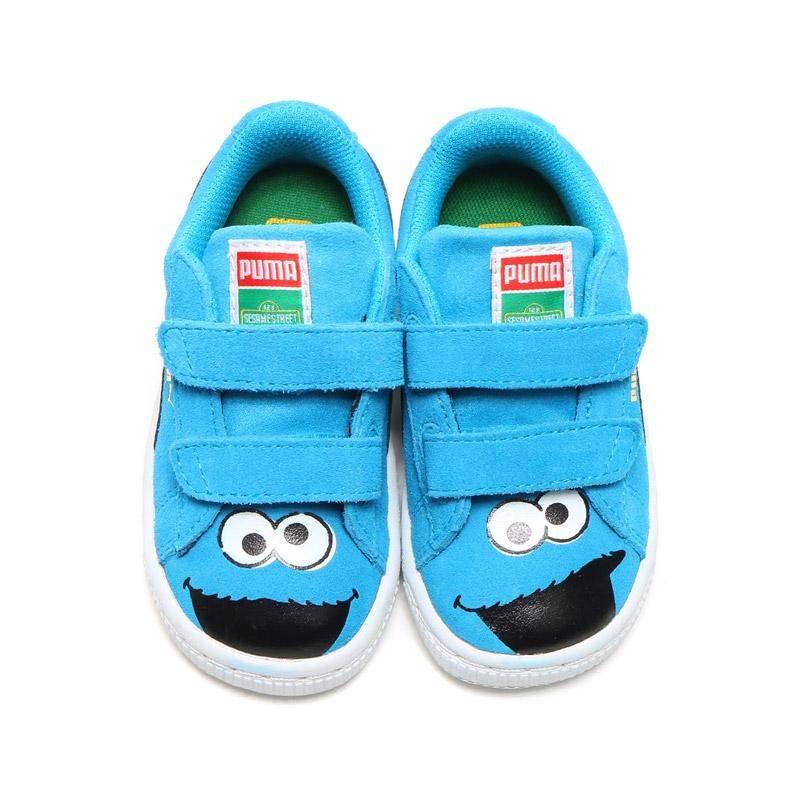 PUMA SUEDE SESAME STREET CM KIDS (Puma Swede Sesame Street cookie monster kids) ATOMIC BLUE-B 16SS-I