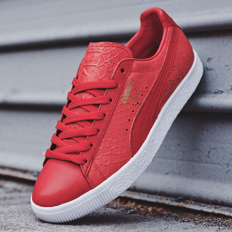 meet 3b90e 3599f PUMA CLYDE DRESSED (PUMA Clyde dresses) HIGH RISK RED 16FA-S