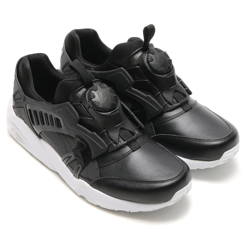atmos pink  PUMA TRINOMIC DISC BLAZE LEATHER (PUMA trainomick disc blaze  leather) BLACK 16SS-I  977972a4a