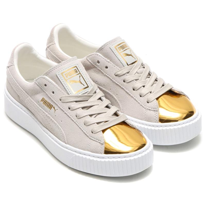 PUMA SUEDE PLATFORM GOLD Puma Suede platform.. GOLD STAR WHITE PUMA WHITE  16FA-I d7f6920a37b