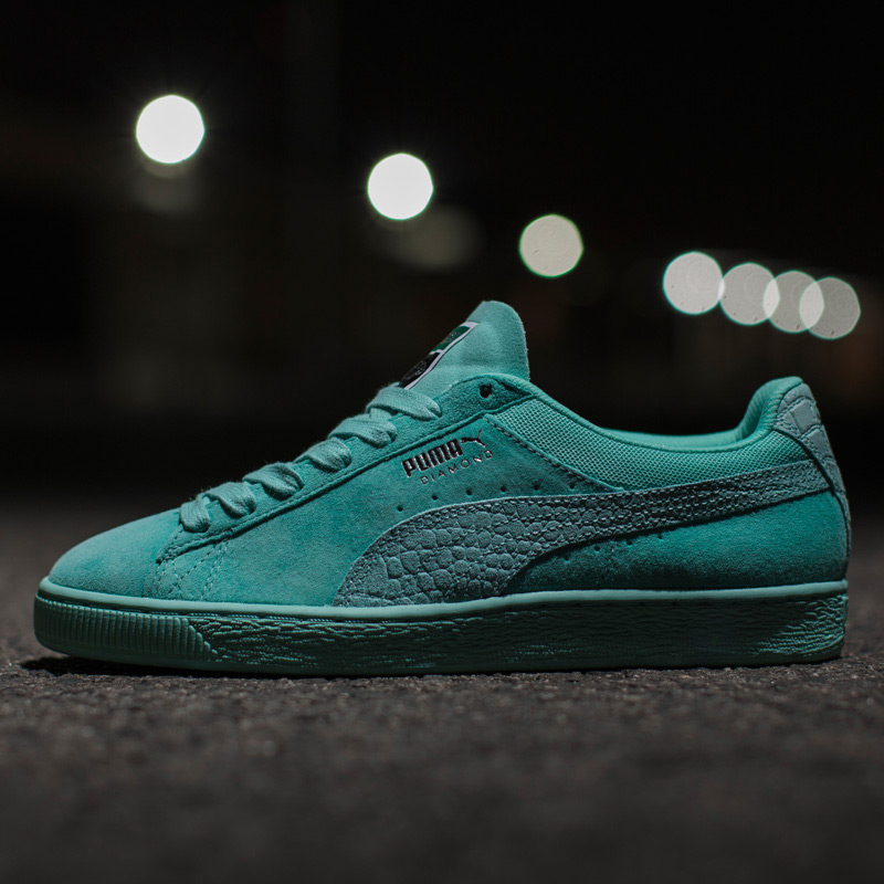 PUMA SUEDE X DIAMOND SUPPLY (Puma suede X diamond supply) (ARUBA BLUE-ARUBA  BLUE) 17SP-I d707ae71a