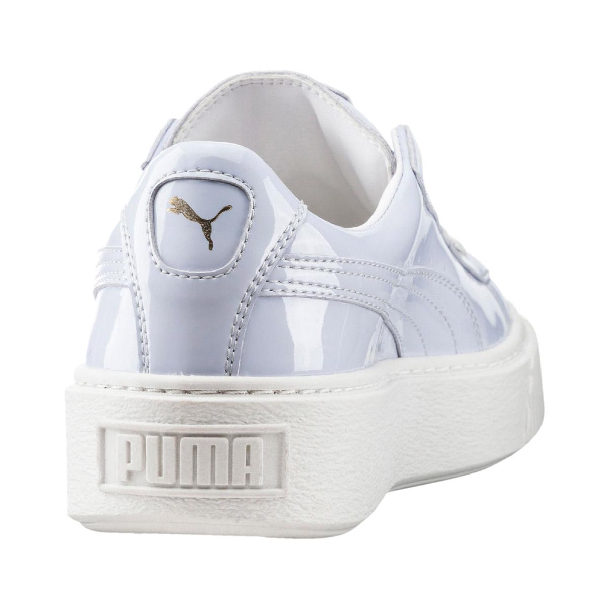 046a2d139da PUMA BASKET PLATFORM PATENT WNS (Puma basket platform patent women)  (HALOGEN BLUE-HALOGEN BLUE) 17SS-I