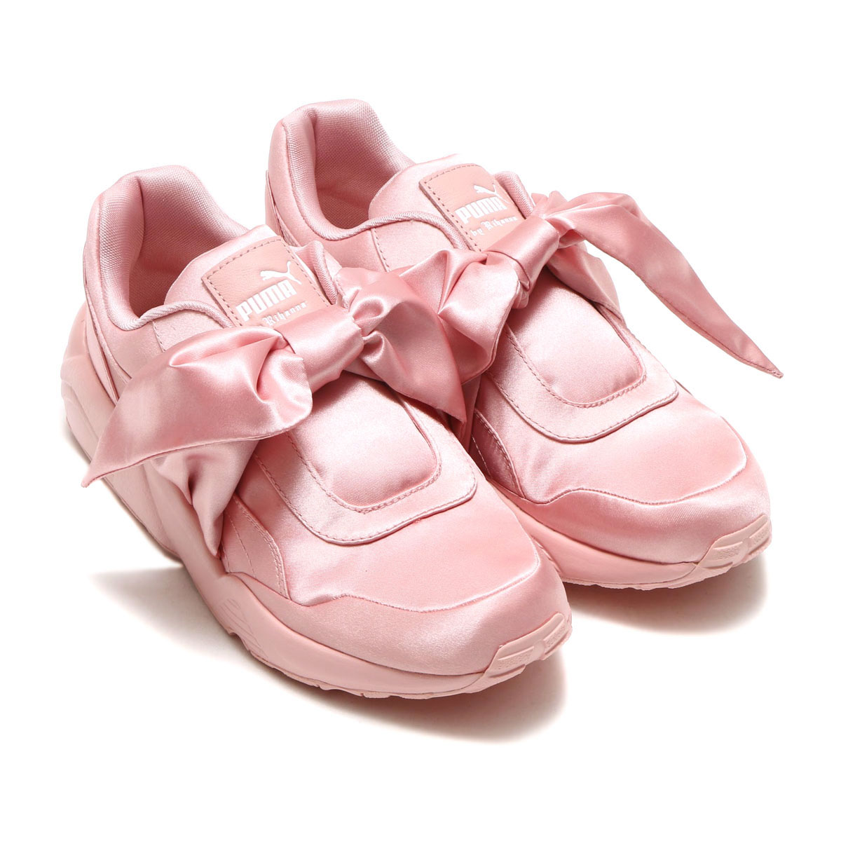 PUMA BOW SNEAKER WOMENS(01SILVER PINK-SILVER PINK-SILV)【リボン】17FW-I