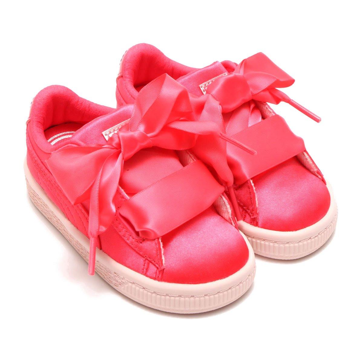 sports shoes 83a21 c56f3 PUMA BASKET HEART TWEEN INFANT (プーマバスケットハートトゥイーンインファント) PARADISE PINK 18SP-I