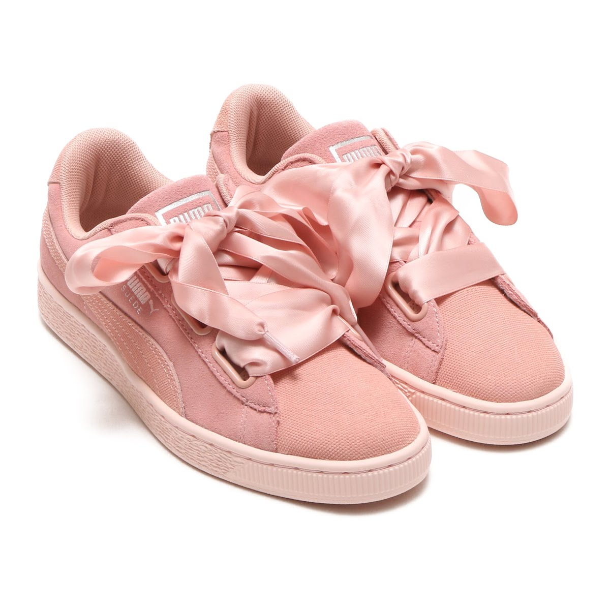 best sneakers 67bb0 a1440 PUMA SUEDE HEART PEBBLE WOMENS (Puma suede heart ぺ bell women) (PEACH  BEIGE) 18SU-I