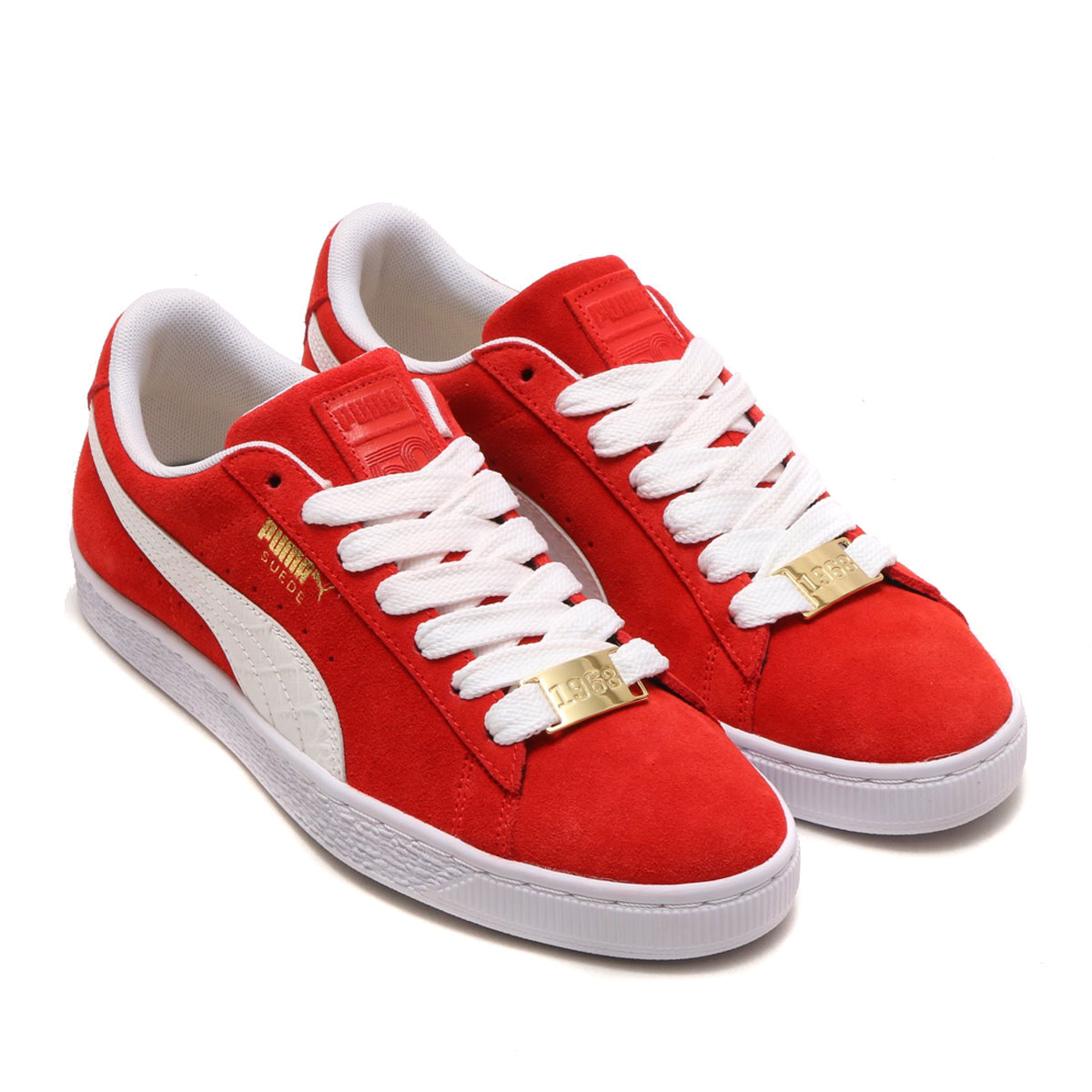 new styles 357e5 cab18 PUMA SUEDE CLASSIC B-BOY FABULOUS (プーマスエードクラシックビーボーイファビュラス) (FLAME SCARLET-  PUMA WHITE) 18SP-I