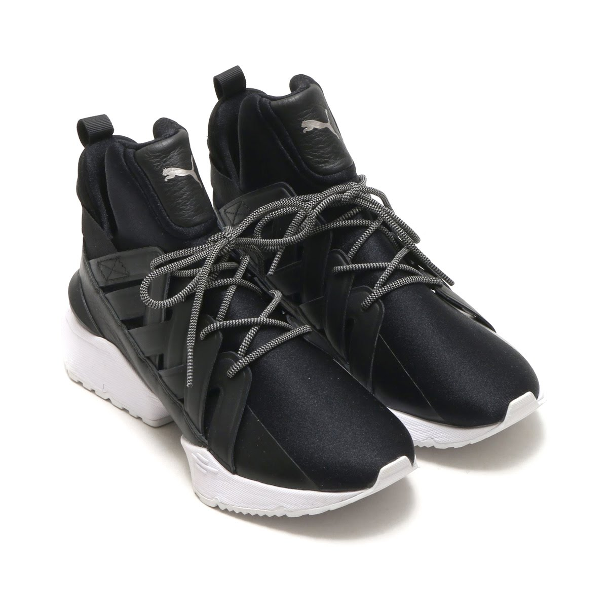 7816fdaf843 PUMA MUSE ECHO SATIN EP WOMENS (Puma Muses echo satin EP women) PUMA BLACK  18SP-I