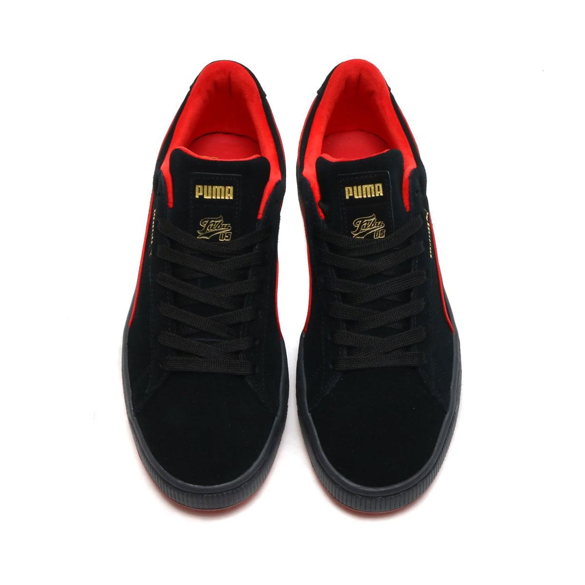 4e6bfa83c09aaf PUMA SUEDE CLASSIC X FUBU (Puma suede classical music X フブ) Puma Black-High  Risk Red 18SP-I