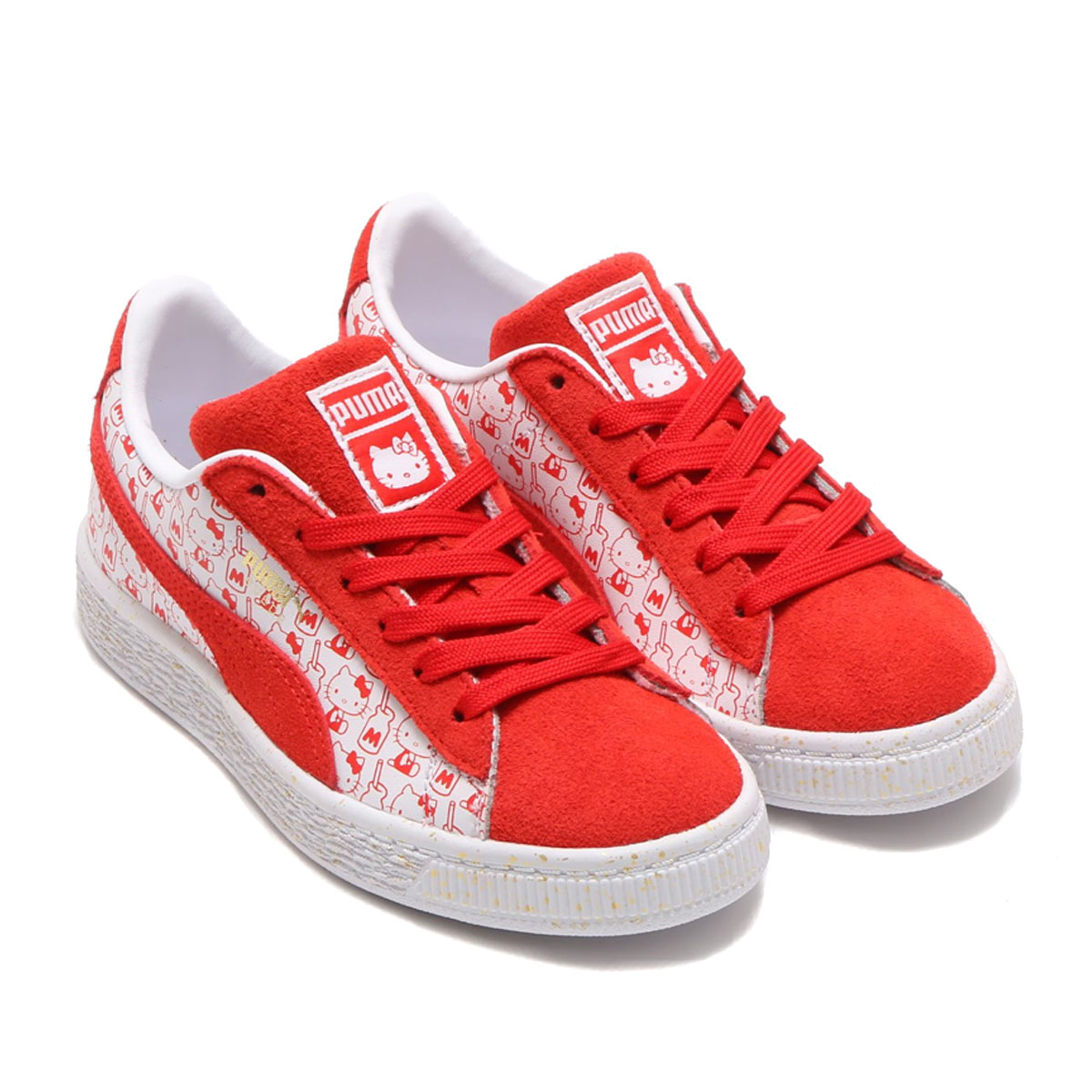 best sneakers 9b164 85362 PUMA SUEDE CLASSIC X HELLO KITTY PS (Puma suede classical music X Hello  Kitty PS) BRIGHT RED-BR 18SS-S
