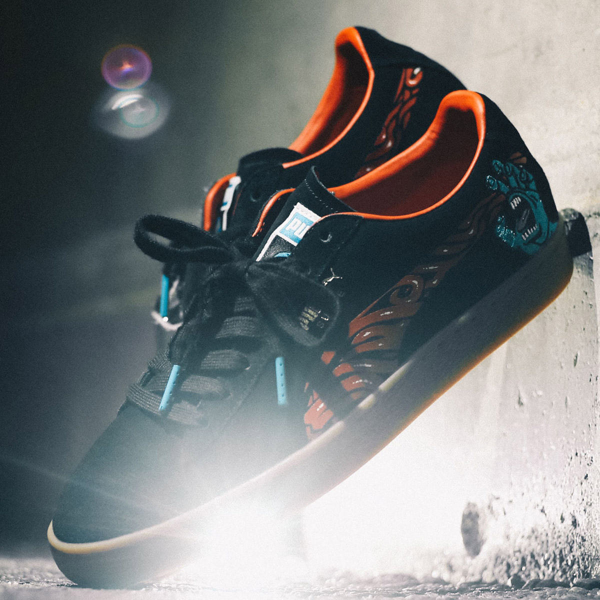 best sneakers d0f08 f296f PUMA SUEDE CLASSIC X SANTA CRUZ (Puma suede classical music X BT) PUMA  BLACK-HI 18FW-S