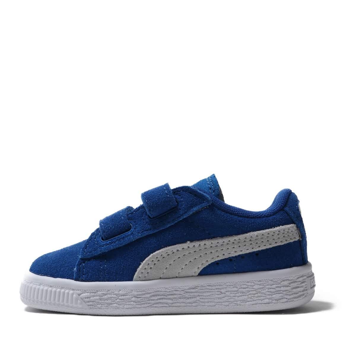 PUMA SUEDE 2 STRAP KIDS (Puma suede cloth 2 strap kids) 02SNORKEL BLUE 19SU I