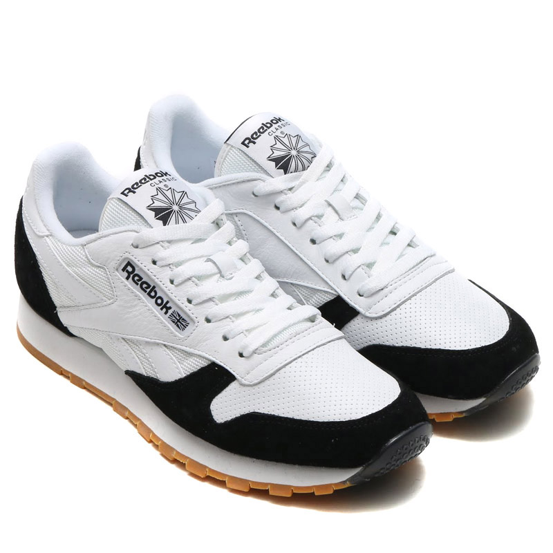 Reebok CL LEATHER SPP (Reebok classical music leather SPP) WHITEWHITEBLACK GUM 16FW I