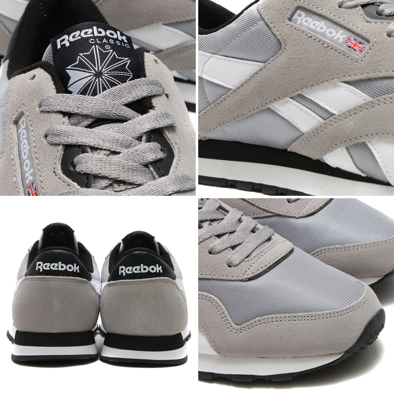 Reebok CL NYLON TS (리복 클래식 나일론 TS) SOLID GRAY/WHITE/WHITE/BLACK 16 FW-I