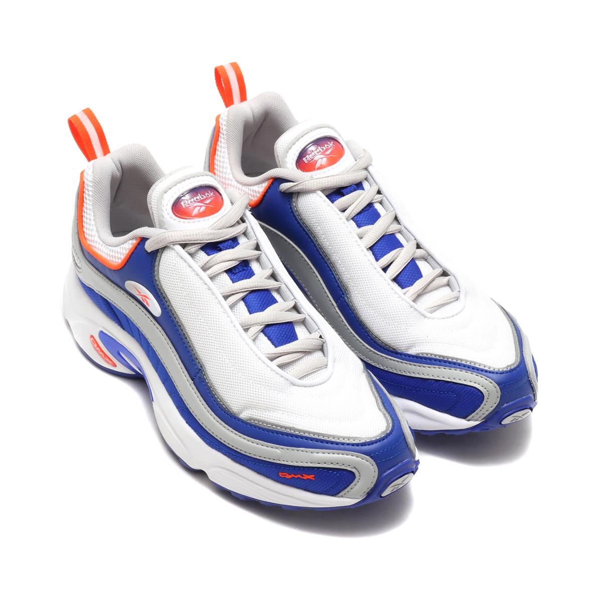 Reebok DAYTONA DMX SC (リーボック デイトナ DMX SC) (WHITE/BLUE MOVE/SKULL GRAY/BRIGHT LAVA)18FA-I