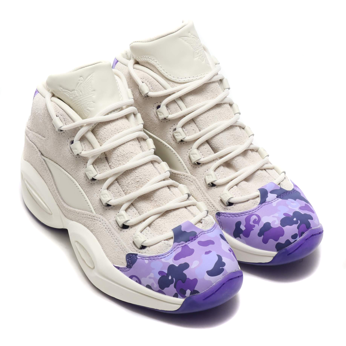 Reebok QUESTION MID CAMRON(リーボック クエスチョン ミッド CAMRON)CHALK/RUSH ORCHID/TEAM PURPLE/CLASSIC WHITE【メンズ スニーカー】18FW-I